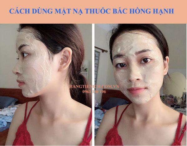 Cách dùng mặt nạ thuốc bắc Hồng Hạnh
