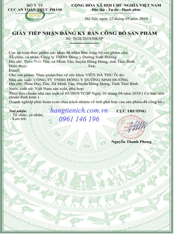 Công bố sản phẩm Viên hà thủ ô mật ong rừng - Dưỡng Sinh Đường