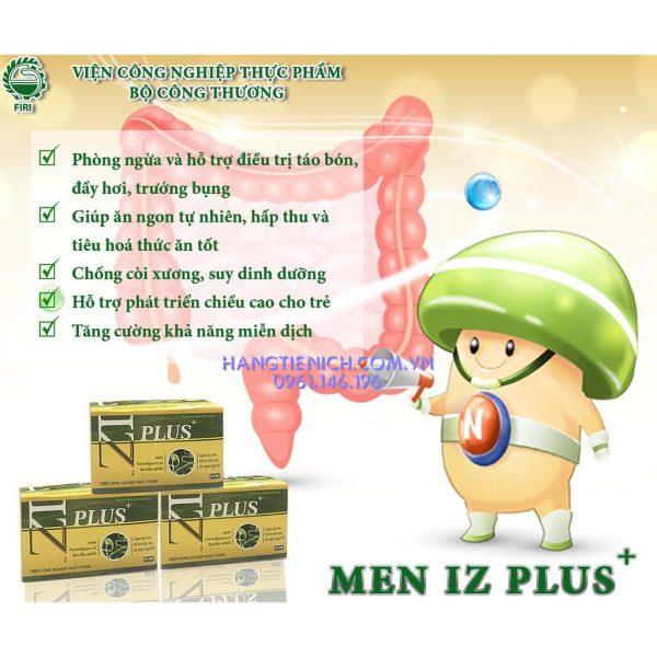 Men vi sinh IZ Plus Viện Thực phẩm giúp điều trị táo bón