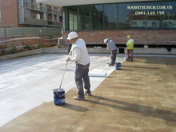 Thi công phụ gia chống thấm Vin - latex Viện xây dựng IBST tại các công trình xây dựng
