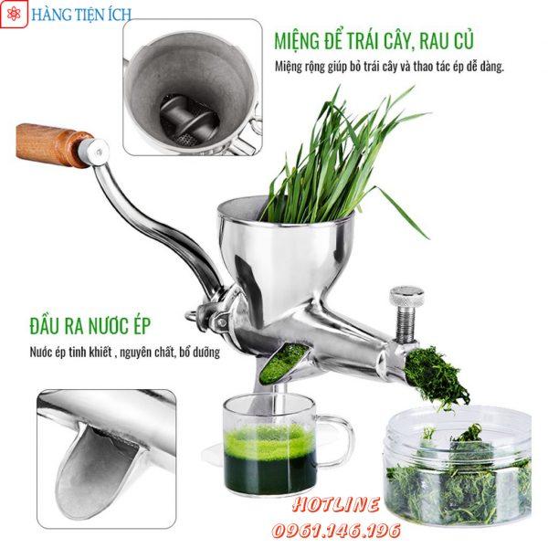 Giới thiệu về máy ép cỏ lúa mì bằng tay inox